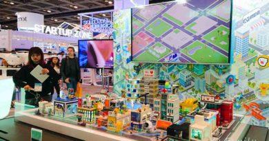 【香港】智慧城市規劃。春季電子產品展